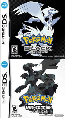 Pokemon Black and White covers