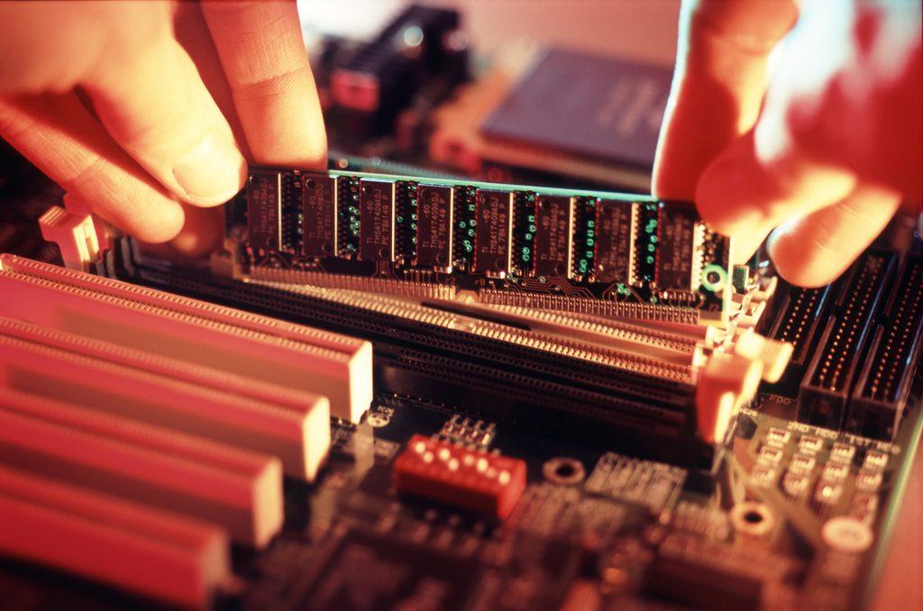 Memoria RAM na placa mãe