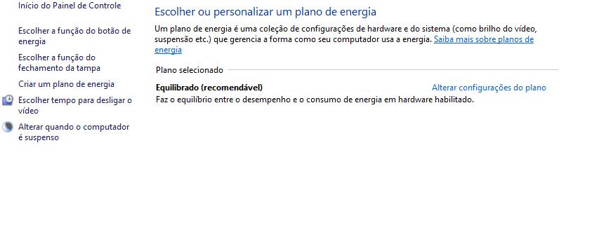Economia de energia no notebook